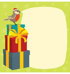 birdy wishes merry christmas vector image