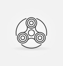 hand fidget spinner icon vector image