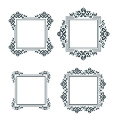 vintage frame set two vector image