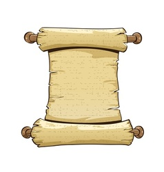 vintage paper scroll vector image