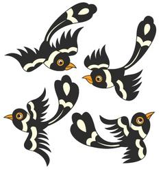 bird cartoon design vector image vector image