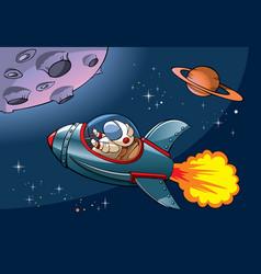 Cartoon spaceship vector