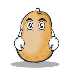 flat face potato character cartoon style vector image vector image