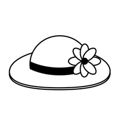 Hat with flower adornment icon imag vector