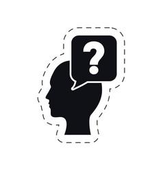 head bubble speech question mark vector image vector image