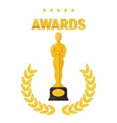 oscar film festival awards vector image vector image