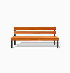 Park wood benches and steel vector