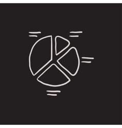 Pie chart sketch icon vector image vector image