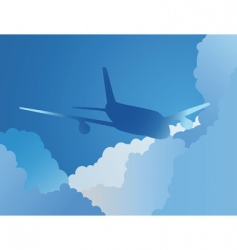 plane in sky vector image vector image