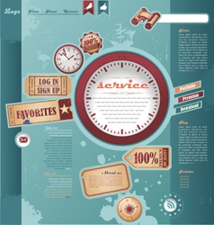 Vintage and retro web design elements vector image