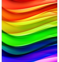 Abstract Colored Wave Background vector image