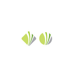 abstract financial logo icon vector image