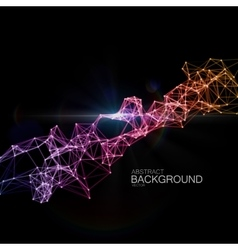 Abstract illuminated particles and lines vector image