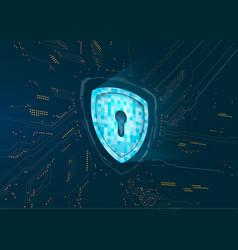 abstract techno futuristic shield vector image