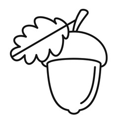 Acorn icon outline style vector