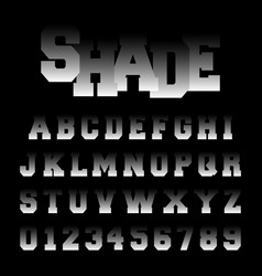 alphabet font shade design vector image