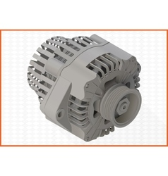 Alternator isometric perspective view flat vector