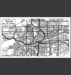 Atlanta georgia usa city map in retro style black vector