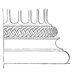 Attic base in the temple of minerva polias vector
