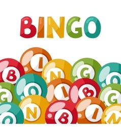 Bingo or lottery game with balls vector image