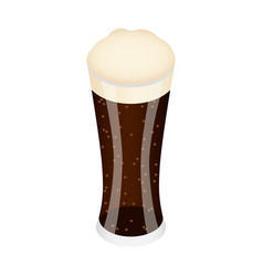 Black glass of beer icon isometric style vector