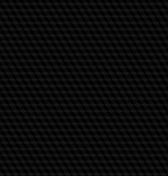 Black hexagon texture seamless background vector image