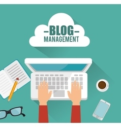 blog management design vector image