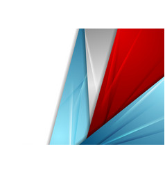 Blue and red abstract corporate glossy background vector