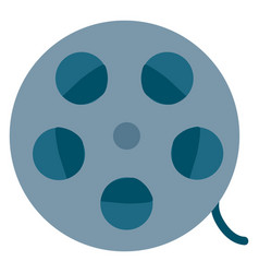 blue-colored film reel or color vector image