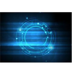 blue template digital background vector image