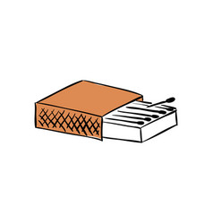 box matches blank package 3d rendering vector image