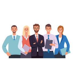 business office group team people vector image