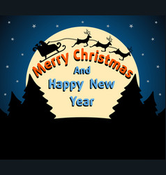 christmas and new year background card blue vector image