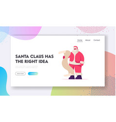 christmas celebration website landing page cute vector image