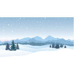 christmas snowfall background snow winter vector image