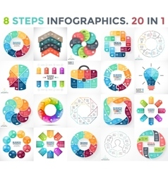 circle infographics set Business diagrams vector image