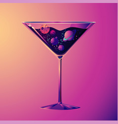 Cocktail party with drink glass and vector