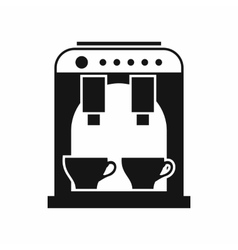 Coffee machine icon simple style vector image