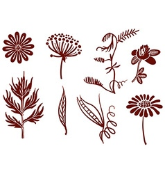 Collection flowers for your design vector