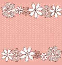 Color pattern dotted with row flowers background vector