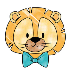 Cute and adorable lion character vector