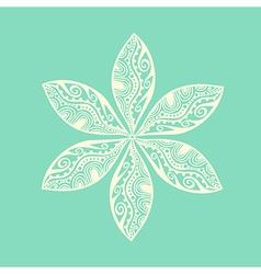 Cute ornamental flower vector
