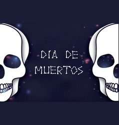 Dia de muertos day of the dead paper cut skull vector