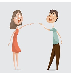 Divorce family conflict couple man and woman vector