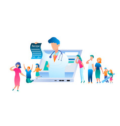 doctor online has written treatment recipe vector image
