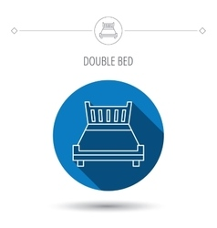 Double bed icon Sleep symbol vector image