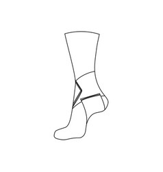 Elastic bandage for ankle joint vector