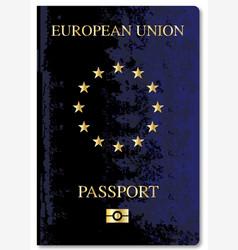 European union passport vector