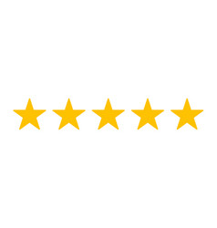 Five stars customer product rating review flat vector
