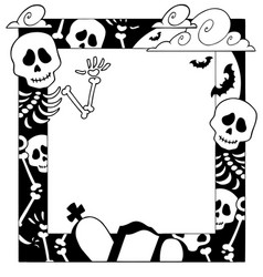 frame with halloween topic 4 vector image